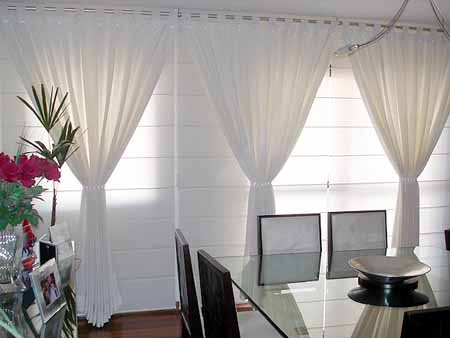 Be home for Cortinas blancas dormitorio