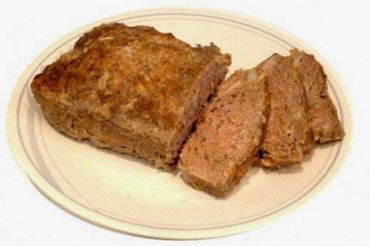 my meatloaf sliced on a plate