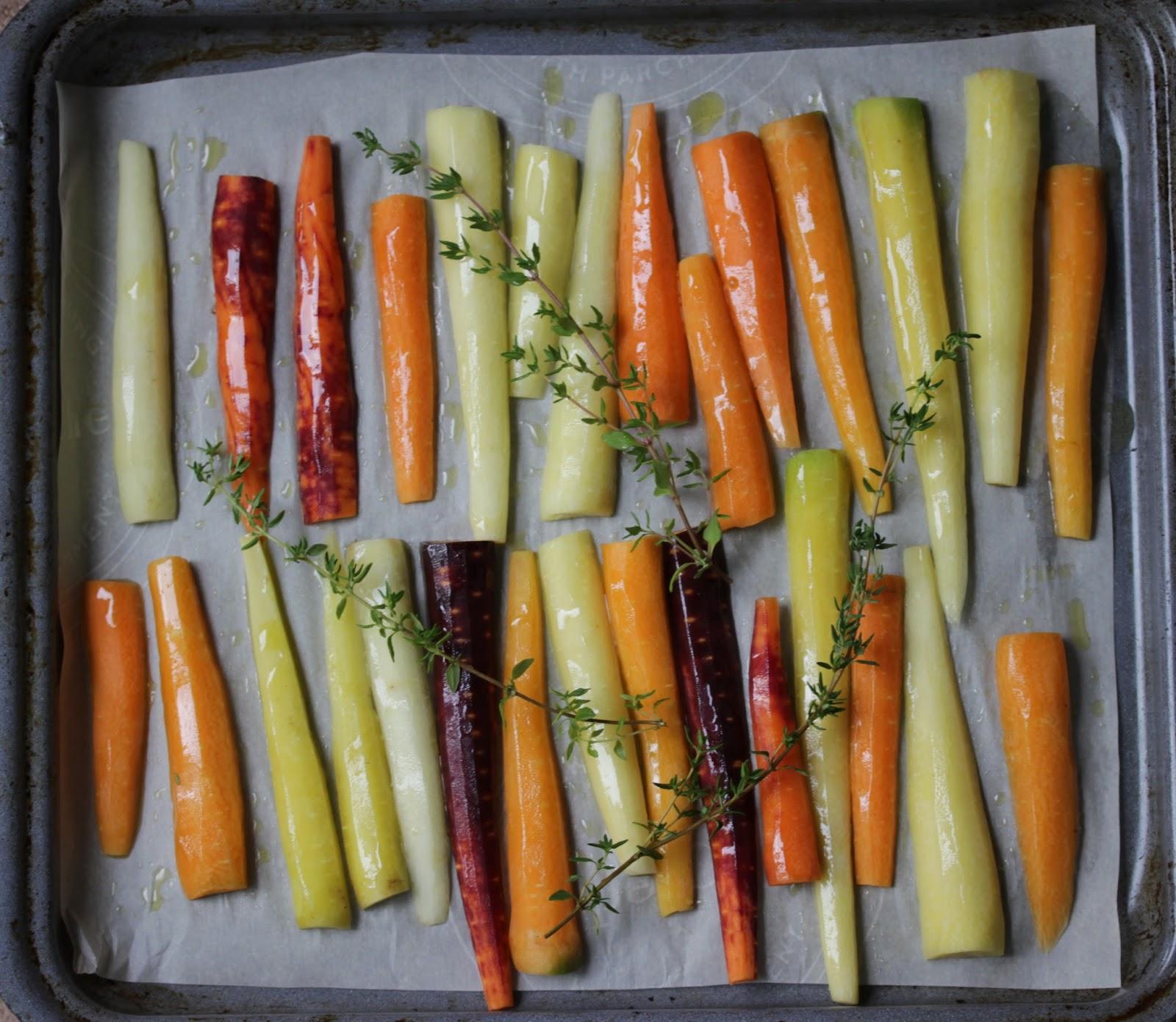 Au gr du march carottes grill es au four - Chataignes grillees au four ...