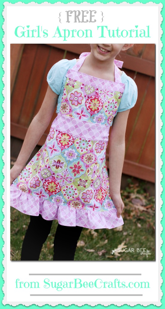 Girl\'s Apron Tutorial - Sugar Bee Crafts