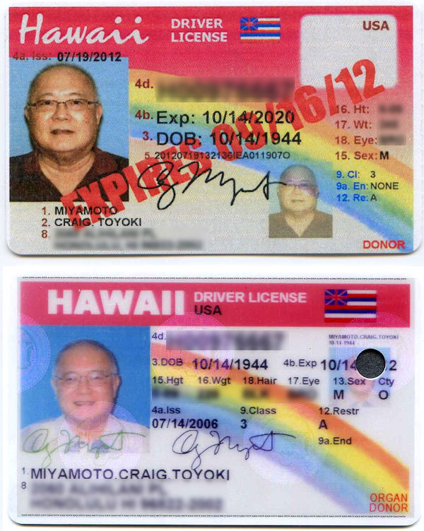 hawaii renew drivers license requirements