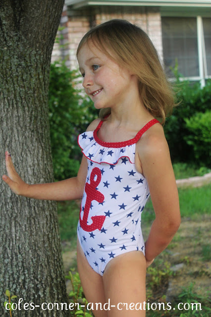 coles corner and creations anchor swimsuit makeover
