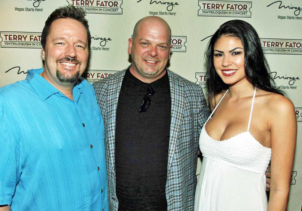 Terry Fator With Rick Harrison And Taylor Makakoa