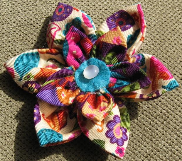 big bows fabric flower