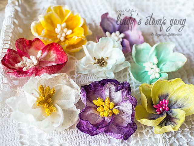Цветы из ткани для скрапбукинга своими руками