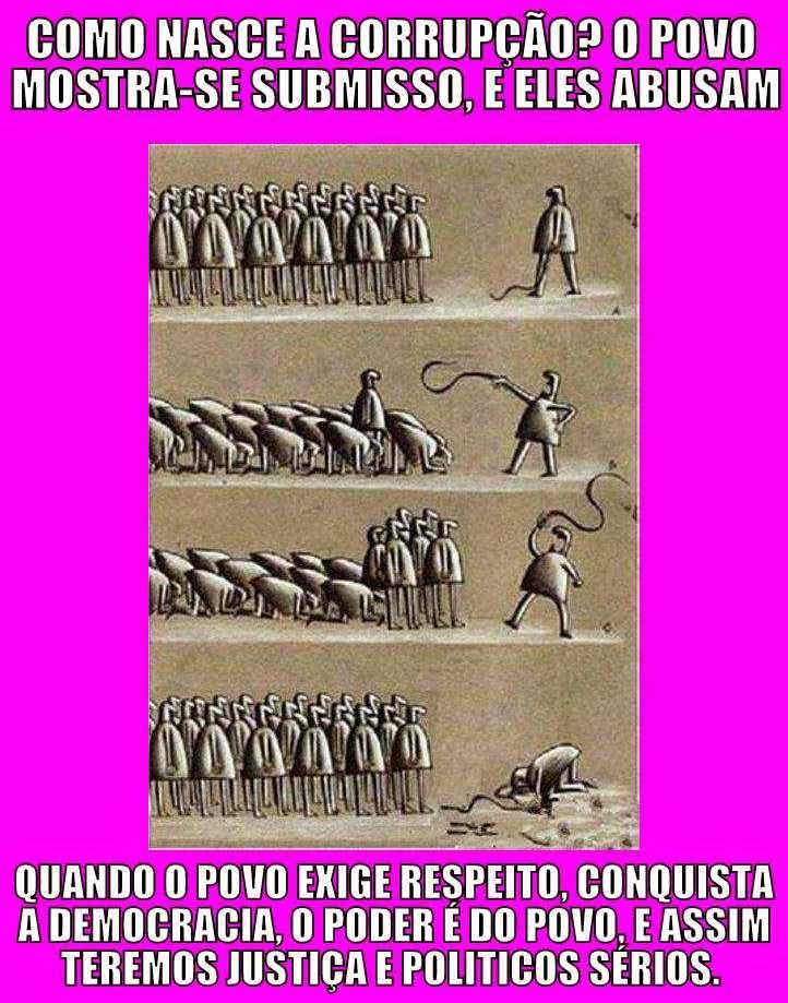 corrupção escravos luta popular