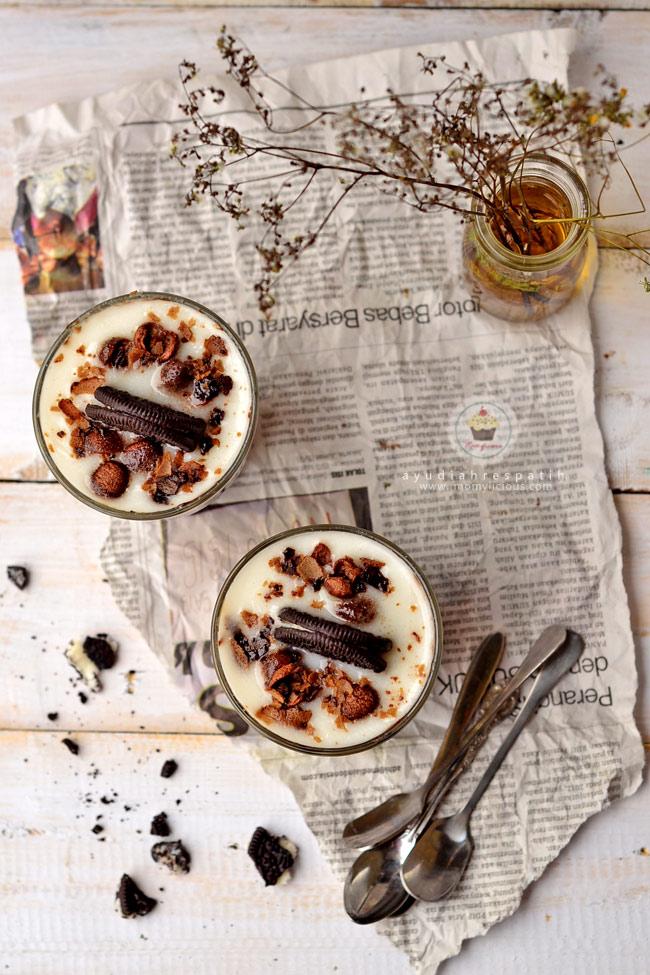 Puding COkelat Oreo Cappuccino
