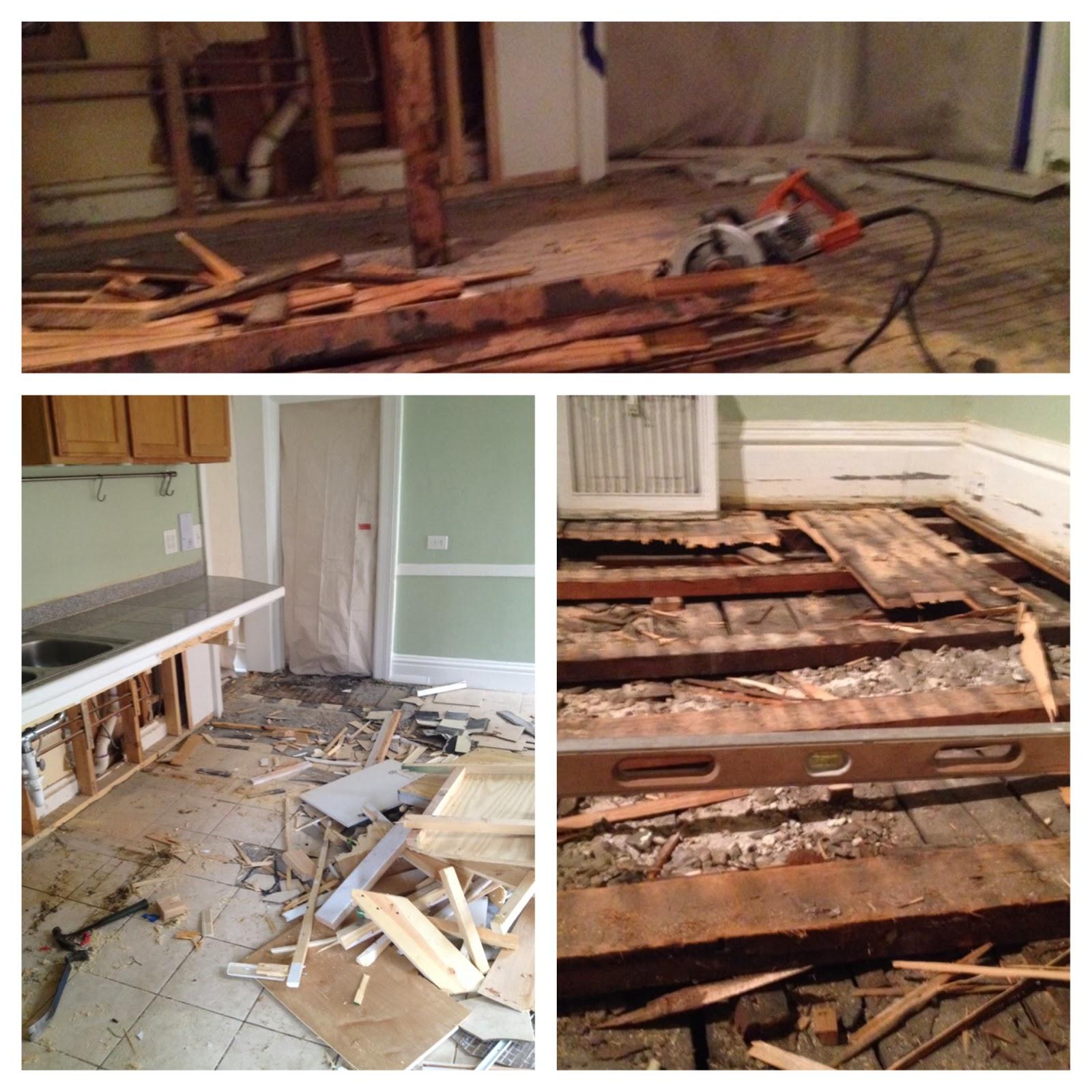 Leveling Kitchen Floor Evanston Handyman