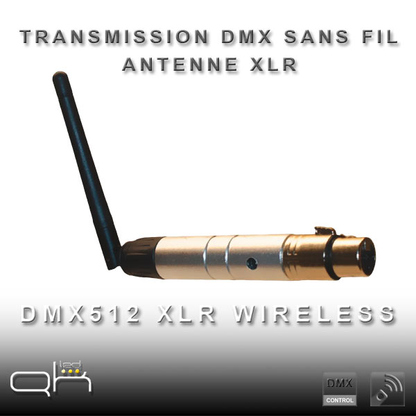 transmission dmx wireless sans fil antenne xlr dmx in out quarkled ampoule led. Black Bedroom Furniture Sets. Home Design Ideas