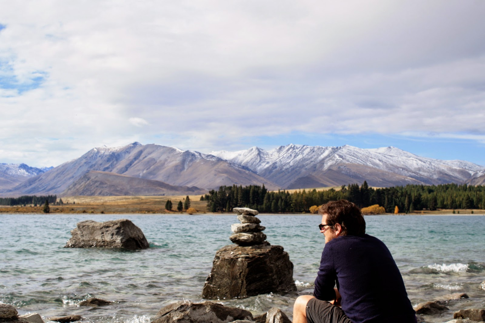 Jesse at Lake Tekapo.