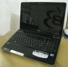 jual laptop 2nd toshiba a505 core i3