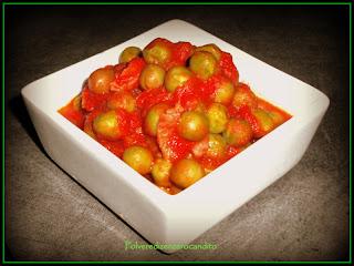 piselli e pancetta...al pomodoro