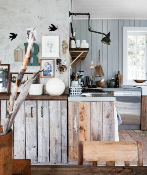 cocina rustica puertas madera