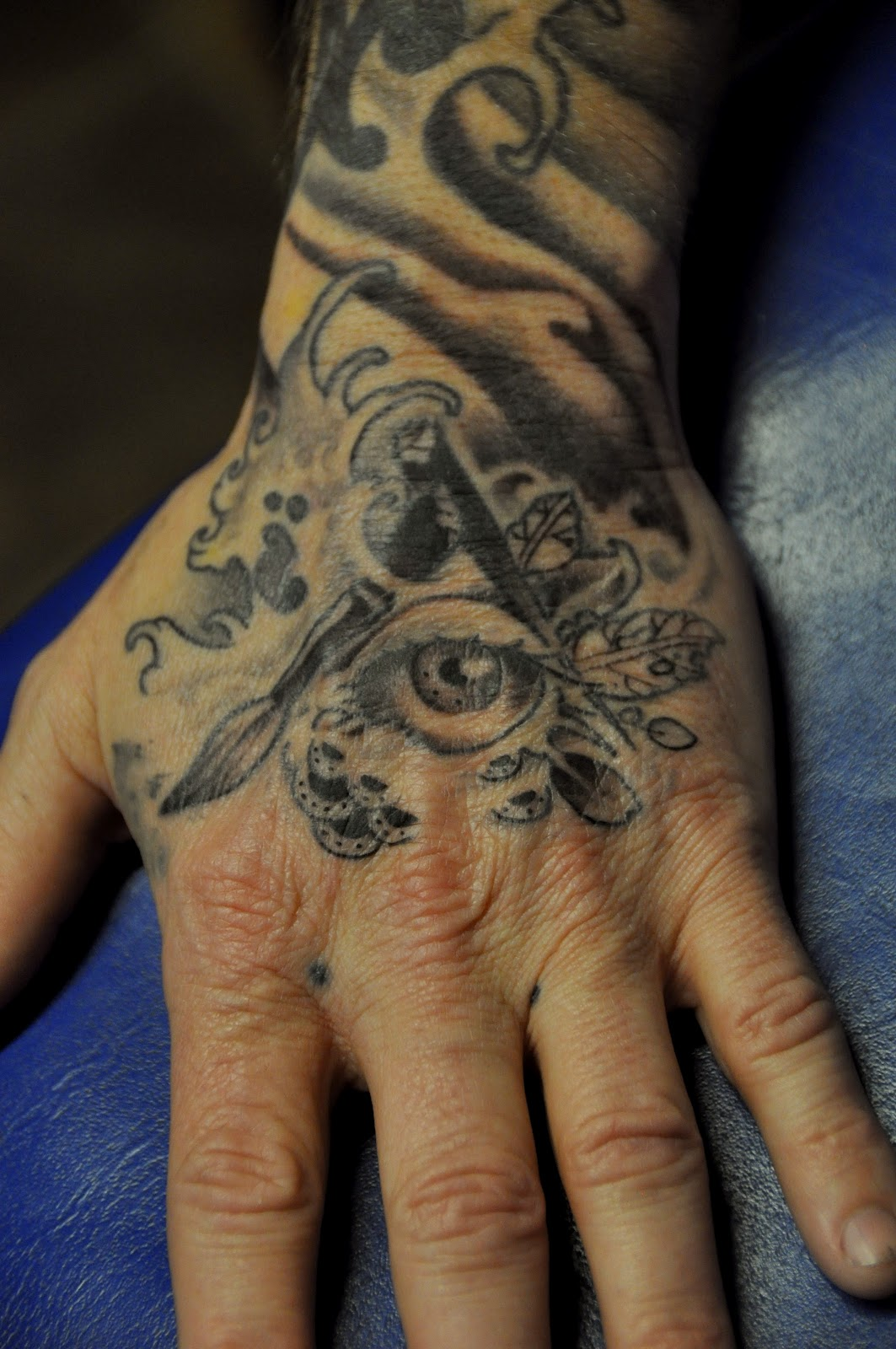 Mister tired tony 39 s hand for Hell or high water tattoo