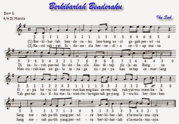 Cord lirik lagu Berkibarlah Benderaku