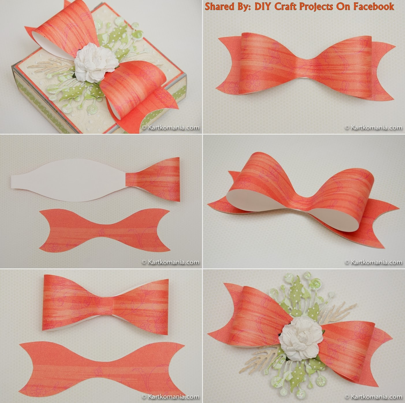 Diy Paper Bow With Printable Template Diy Craft Projects