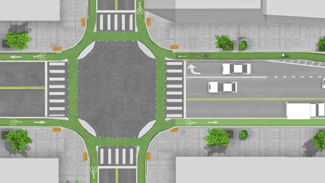Holandeses tem a melhor modelo de cruzamento com ciclofaixa