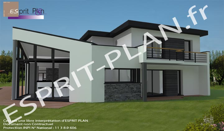 Esprit plan for Style de maison contemporaine