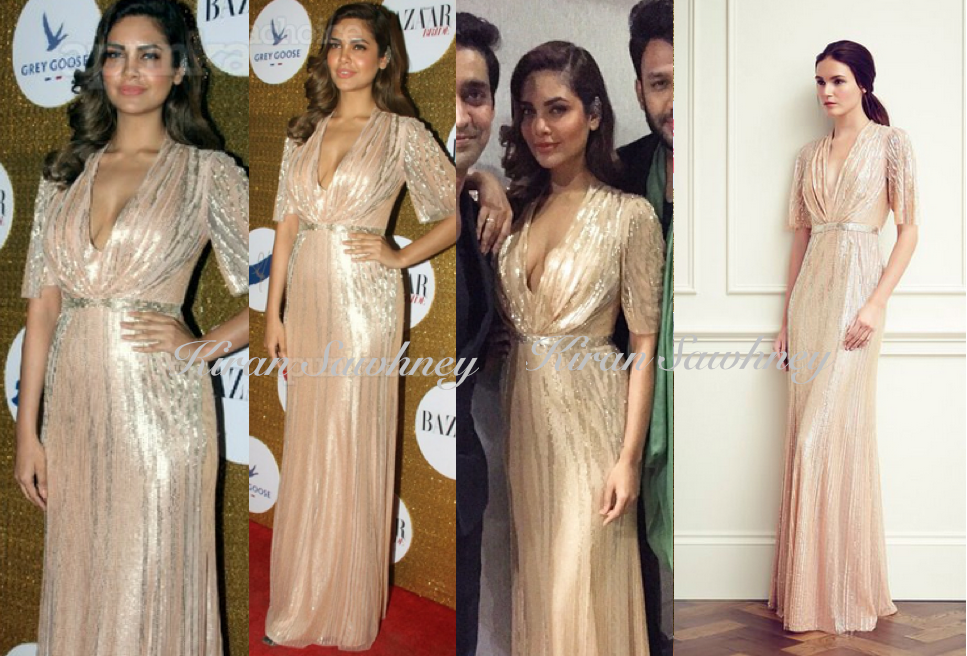 Esha Gupta at Bazaar Bride 1st Anniversary bash in Jenny Packam