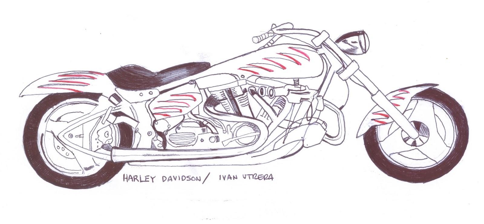 Harley Davidson a lapicero | Dibujo a lápiz, Reciclaje, Tallado en ...
