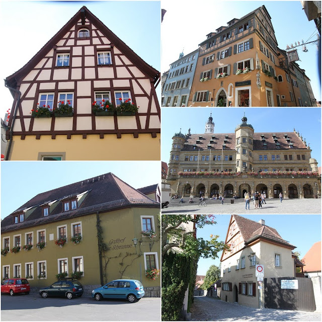 More unique structure of houses can be seen in Rothenburg, Germany