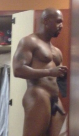 Black nude men locker room