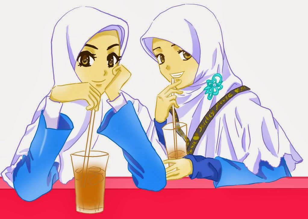 top wanita hijab kartun wallpapers