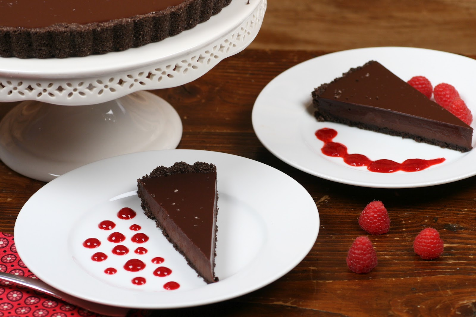 here is the recipe: Chocolate Glazed Chocolate Tart