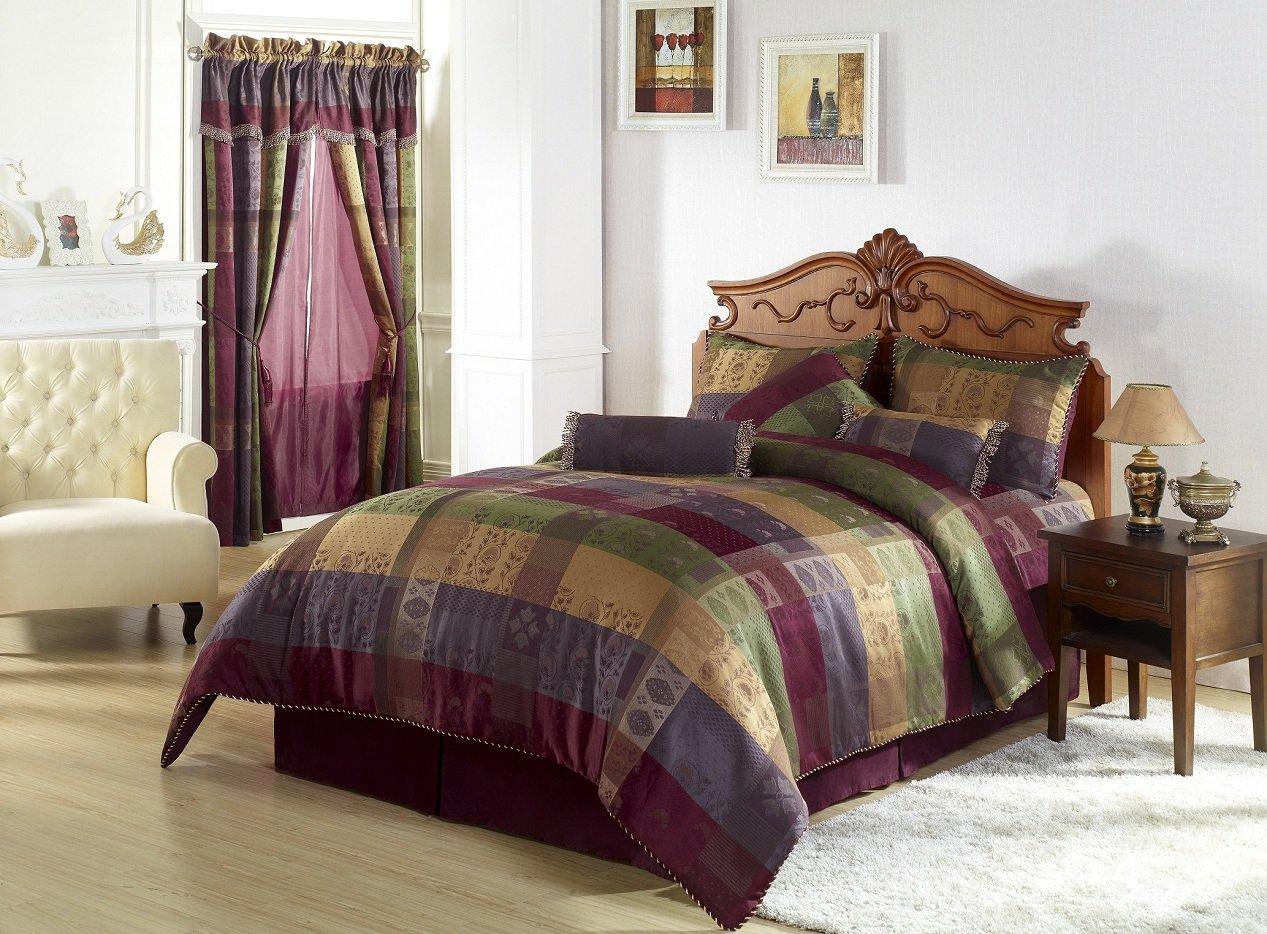 total fab burgundy comforter bedding sets