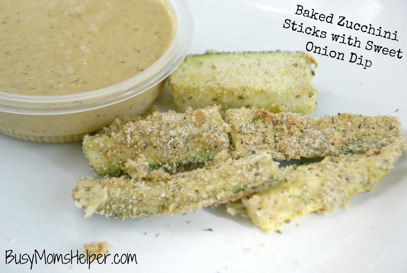 Baked Zucchini Fries With Onion Dipping Sauce Recipe — Dishmaps