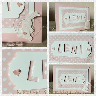 Babykarte Beeindruckende Buchstaben