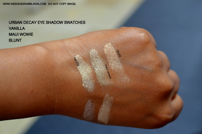 Urban Decay Makeup Eyeshadow Indian Beauty Blog Swatches FOTD Brown Beige