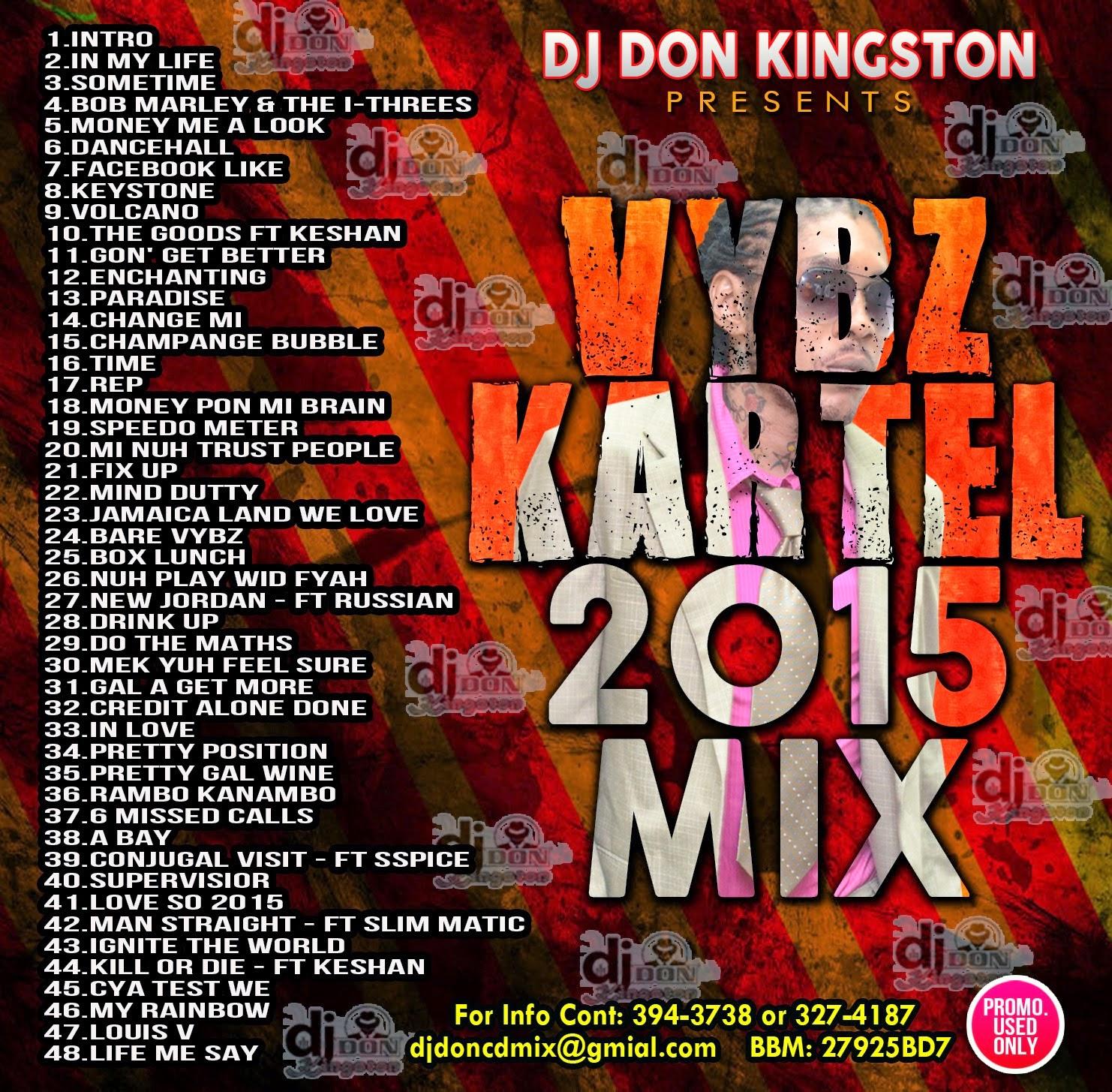 REGGAETAPES: DJ DON - VYBZ KARTEL 2015 MIX