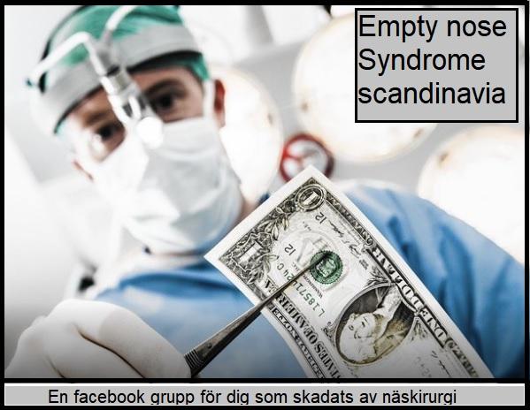 Empty nose syndrome Europe - En facebook-grupp för dig som skadats av näskirurgi