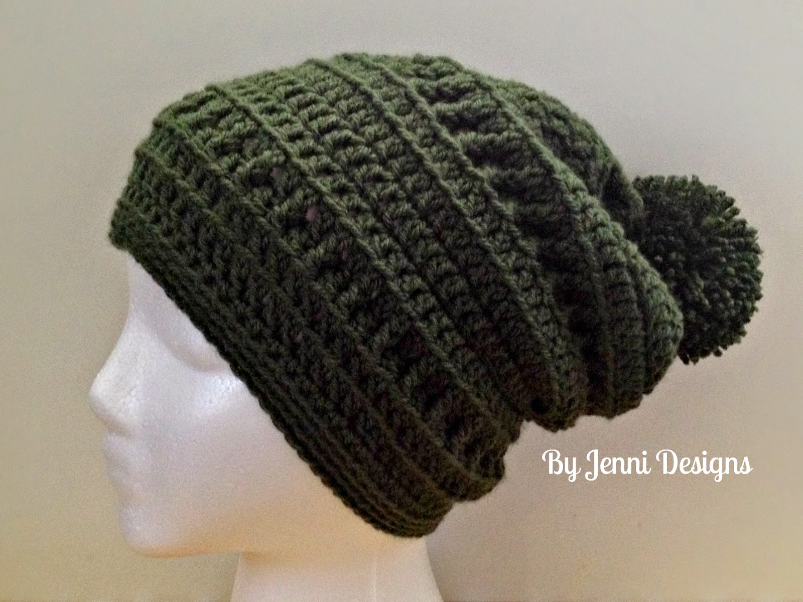 By jenni designs slouchy textured beanie