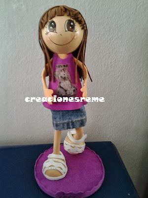 fofucha-creacionesreme-personalizadas-foami –perrito-muñecas artesanas-alcala de henares -fofuchas-medico-bailarina-escenario-alcala de henares-CASCO -MOTO