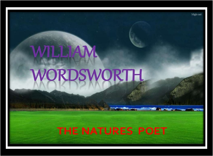 "law of nature wordsworth essay Sample of tintern abbey essay the poem ""tintern abbey"" by wordsworth is about his general philosophies of nature."