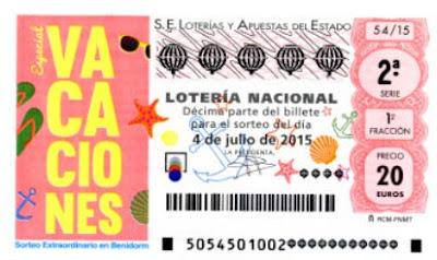 Lotería vacaciones 4 de julio