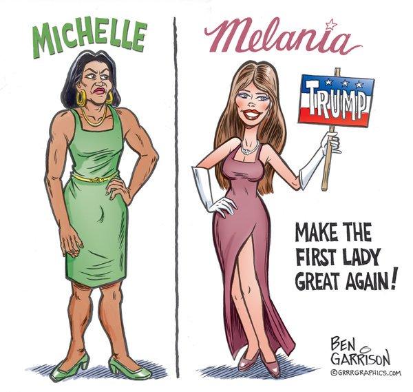 Virtual Mirage: Michelle vs Melania