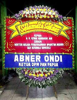 bunga papan selamat atas pelantikan menteri negara