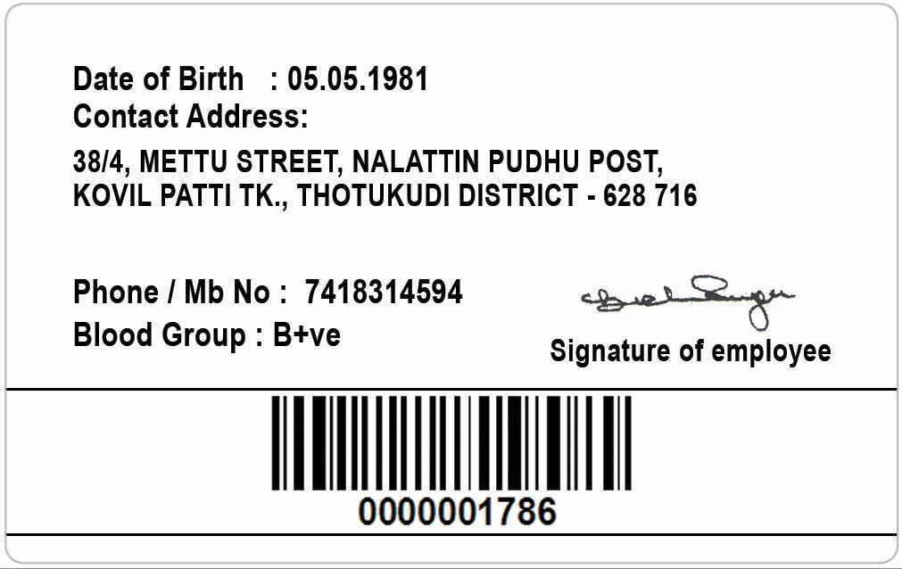 ID Card - Coimbatore - Ph: 97905 47171: ID Card Templates 20131231