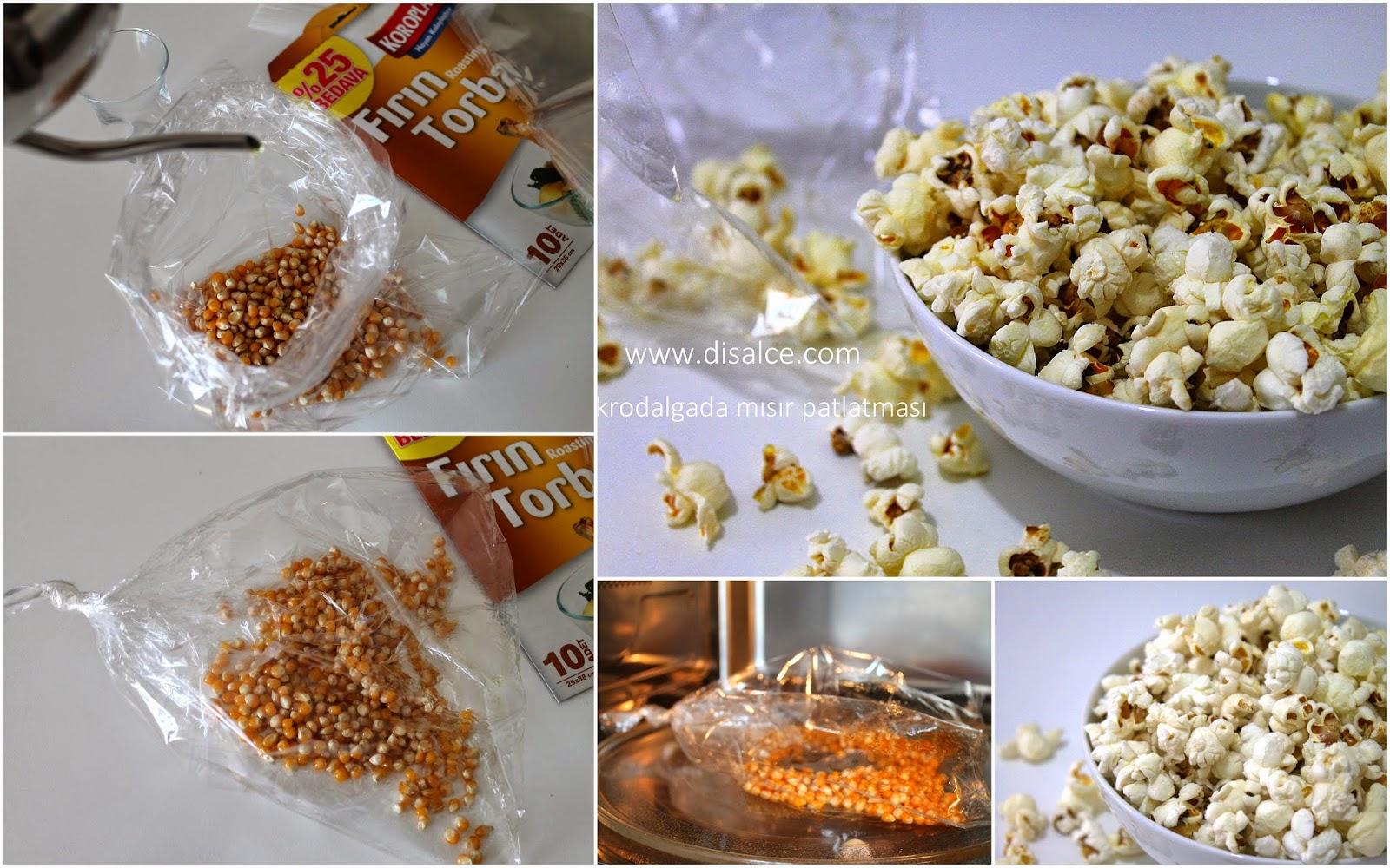 mikrodalgada mısır patlatma