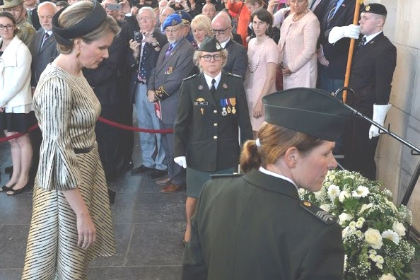 Queen Mathilde Attended 30,000th Last Post Ceremony In Ypres