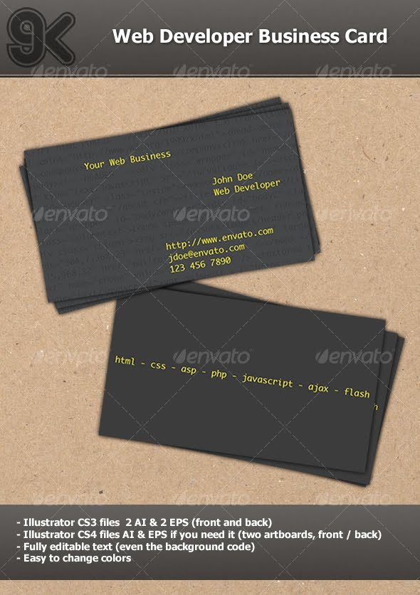 Business Card - Web Developer Business Card