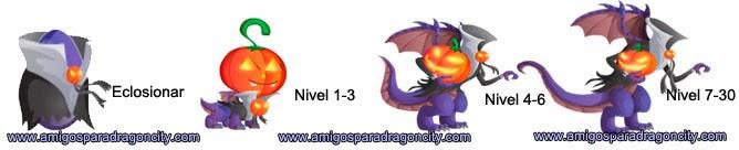 imagen del crecimiento del dragon halloween