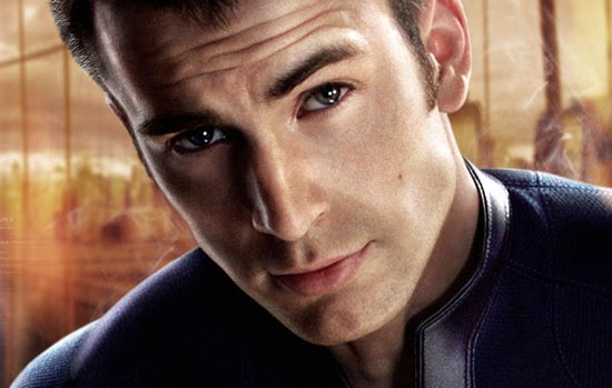Chris Evans Hair Style in Fantastic 4