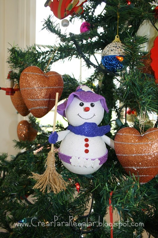 muñeco de nieve con goma eva