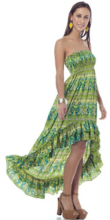 Green Smocked Ruffle Dress
