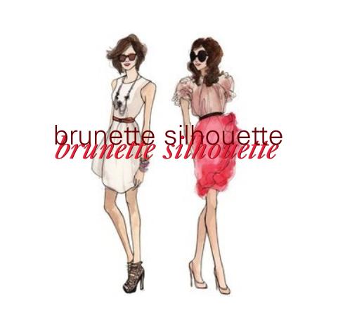 brunette silhouette
