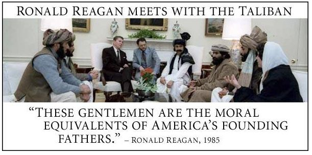 Reagan training bin laden